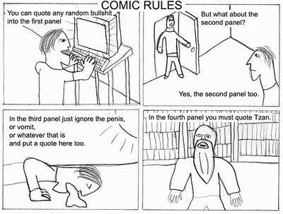 The comic rules by Tzan