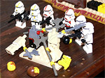 Heavy troopers chop off their own heads in a fit of pent-up rage.